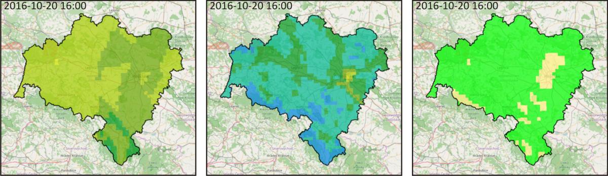 Prognoza jakości powietrza dla Dolnego Śląska, 2016-10-20 16:00